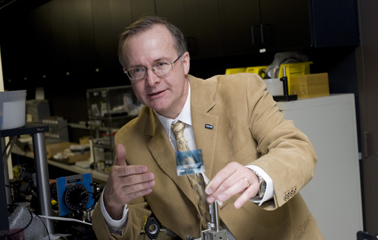 "RIT Associate Professor Grover Swartzlander is the co-investigator on the ""orbiting rainbows"" project."